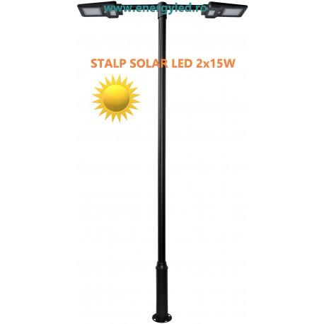 STALPI SOLARI ILUMINAT STRADAL CU LED 30W