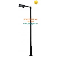 STALP ILUMINAT STRADAL SOLAR 3M cu lampa SOLARA LED 15W si senzor de miscare